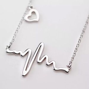 Jewelry - Silver Heartbeat Necklace